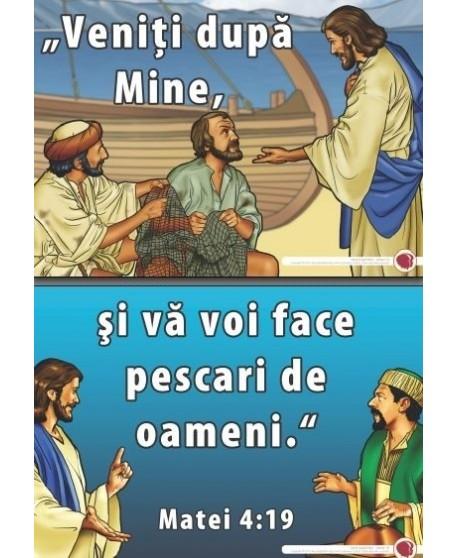 Vino după Mine - versete şi ajutoare vizuale