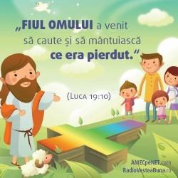 Abţibild– Luca 19:10 – set 5 buc.