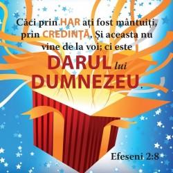 Abţibild– Efeseni 2:8 – set 5 buc.