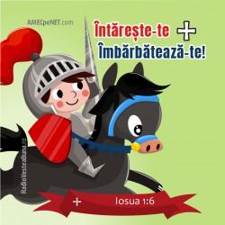 Abţibild – Iosua 1:6 – set...
