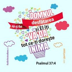 Abţibild – Psalmul 37:4 –...