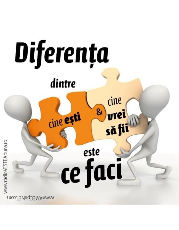 Abţibild – Diferenţa dintre cine eşti şi ce vrei să fii – 5 buc.