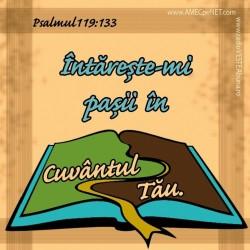 Abţibild – Psalmul 119:133 – 5 buc.